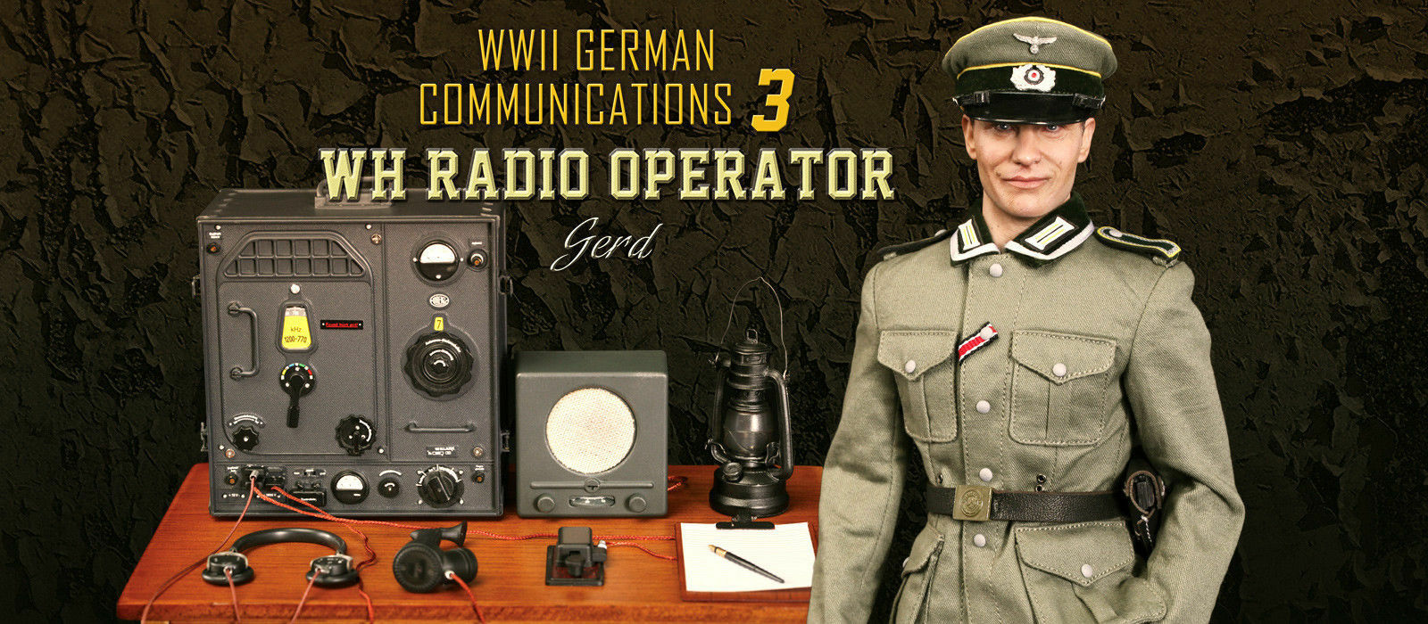 DID1 6 Figure D80133 WWII German Communication 3 WH WH WH Radio Operator Gerd 29c0e4