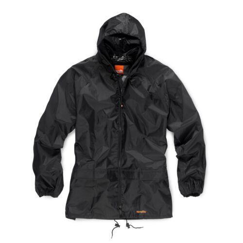 Scruffs Rain Jacket and Waterproof Trousers Black 2 Piece Rain Suit B4