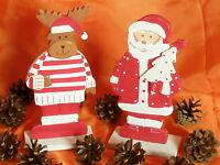 Holzfigur Weihnachtsmann Ca. 20 Cm