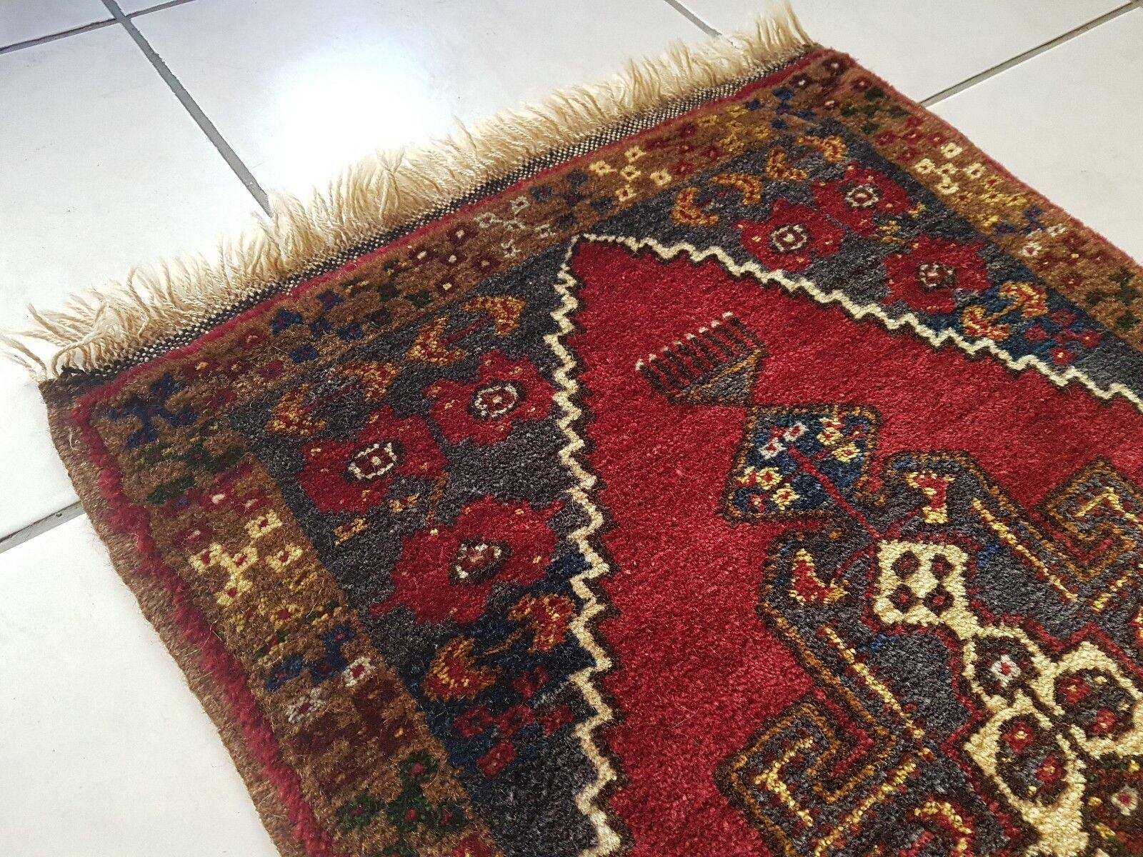 Vibrant Farbe Handknotted Tribal Decor Small Turkish Oushak Oushak Oushak Rug Mat 1.8 X 3.7ft 0d13e2