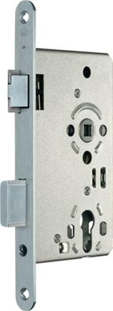 Zimmertür-Einsteckschloss PZW 20/ 65/72/8 mm, DIN Links, silber, rund, Kl 3