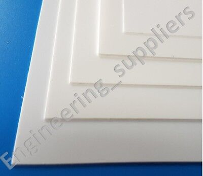 350mm White Matt//Matt Plasticard HIPS Strip 0.25 to 1mm Thk 5 12mm Wide 10 6