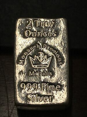 """Monarch Precious Metals 2 Troy Oz /""""Lil Chunky/"""" .999 Pure Silver Silver Is"""