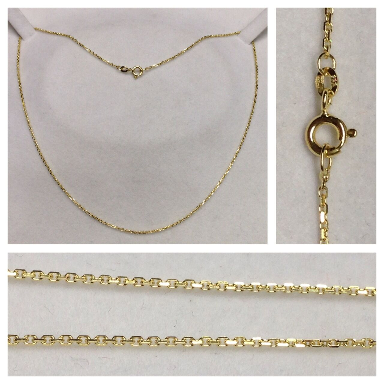 Collana ad ancora 333 gold collier gioielli in 42 cm