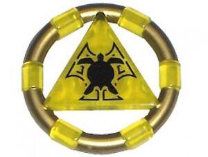 LEGO 7985 Atlantis - Treasure Key w/ Gold Bands and Turtle Pattern - Yellow