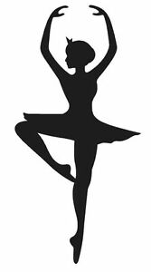 Ballerina Silhouette Dancer Vinyl Decal Sticker Girl