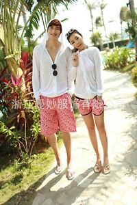 aaa5e57187 Details about Couple Lover Mens Womens Beach Surf Board Sexy Animal Print Shorts  Swim Pants