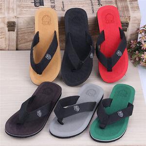 303b68c07f22f Summer Soft Casual Men Flat Wedge Sandals Thong Flip Flops Slippers ...