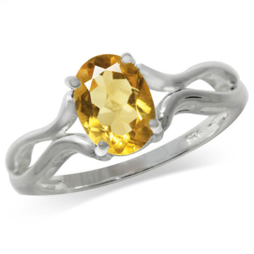 1.08ct Natural Citrine 925 Sterling Silver Solitaire Ring