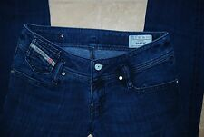 Blue Denim DIESEL MATIC 008RR Low Rise Stretch Skinny /Straight Leg Jeans 26