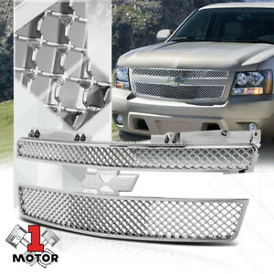 Chrome-ABS-3D-Wave-Mesh-Grille-Grill-for-07-14-GMT900-Tahoe-Avalanche-Suburban