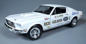 1-18-AUTOWORLD-Ertl-1968-Mustang-Cobra-Jet-SUPERSTOCK-DRAG-AL-joniec