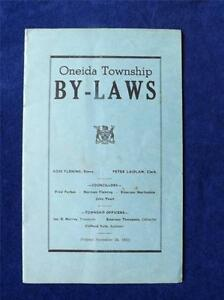 ONEIDA-TOWNSHIP-BY-LAWS-BOOKLET-CANADA-NOVEMBER-24-1951