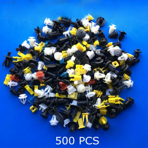 0C39 500PCS Auto Fastener Car Body Vehicle Mixed Plastic Rivet Fasteners
