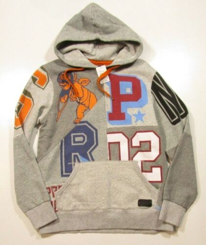 Men/'s Multi Heather Grey Maglev Graphic Cotton Hoodie PRPS Goods /& Co