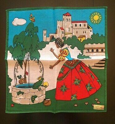 VTG Lehner Handkerchief Hanky Cotton Rolled Edge Scenes Of Switzerland NOS