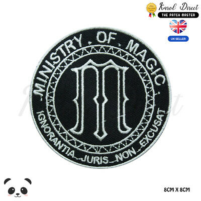 Harry Potter Ministry of Magic Gold  Embroidered Iron On Sew On PatchBadge