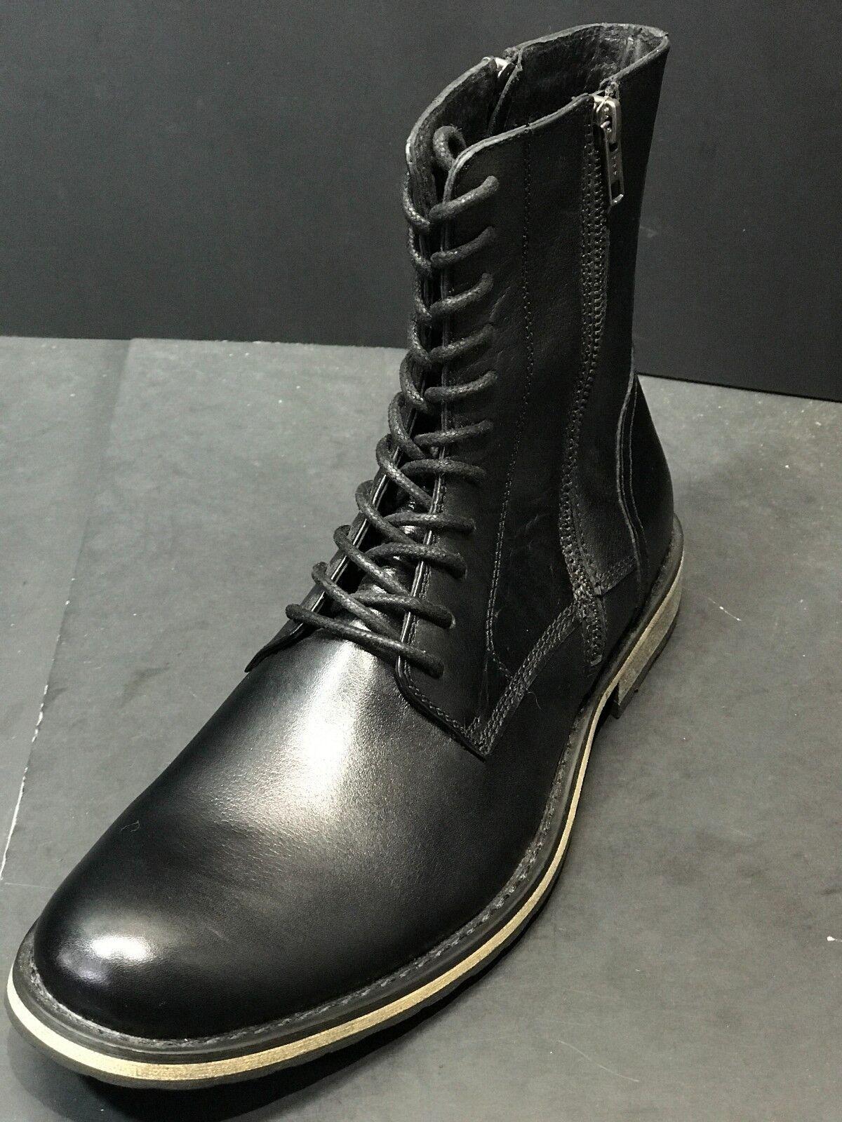 Nuevo Joe's Jeans De Hombre Cuero Negro Encaje Arriba Cremallera Lateral botas Tamaño nos 9 M