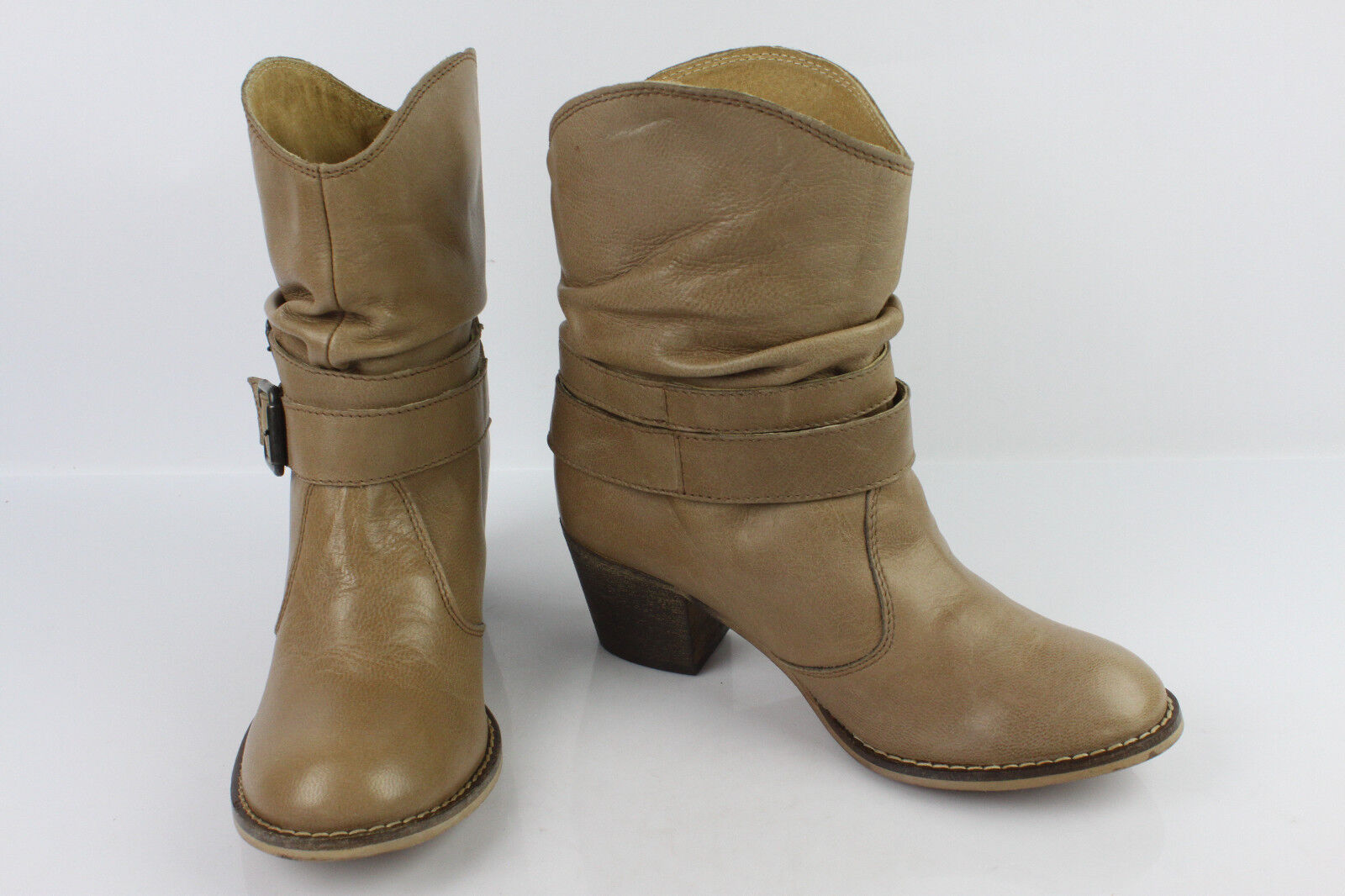 Boots LA REDOUTE ACTIVE WEAR Beige Leather dark T 38 TOP CONDITION