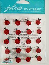 Jolee/'s LADYBUG LOVE 3D Stickers LADYBUG /& FLOWER CORNER EMBELLISHMENT RARE