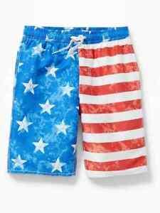 Shorts Stripes Boy Patriotic Navy S L Old Stars Flag M Swim Trunks Board Usa Nwt qYvwtPS