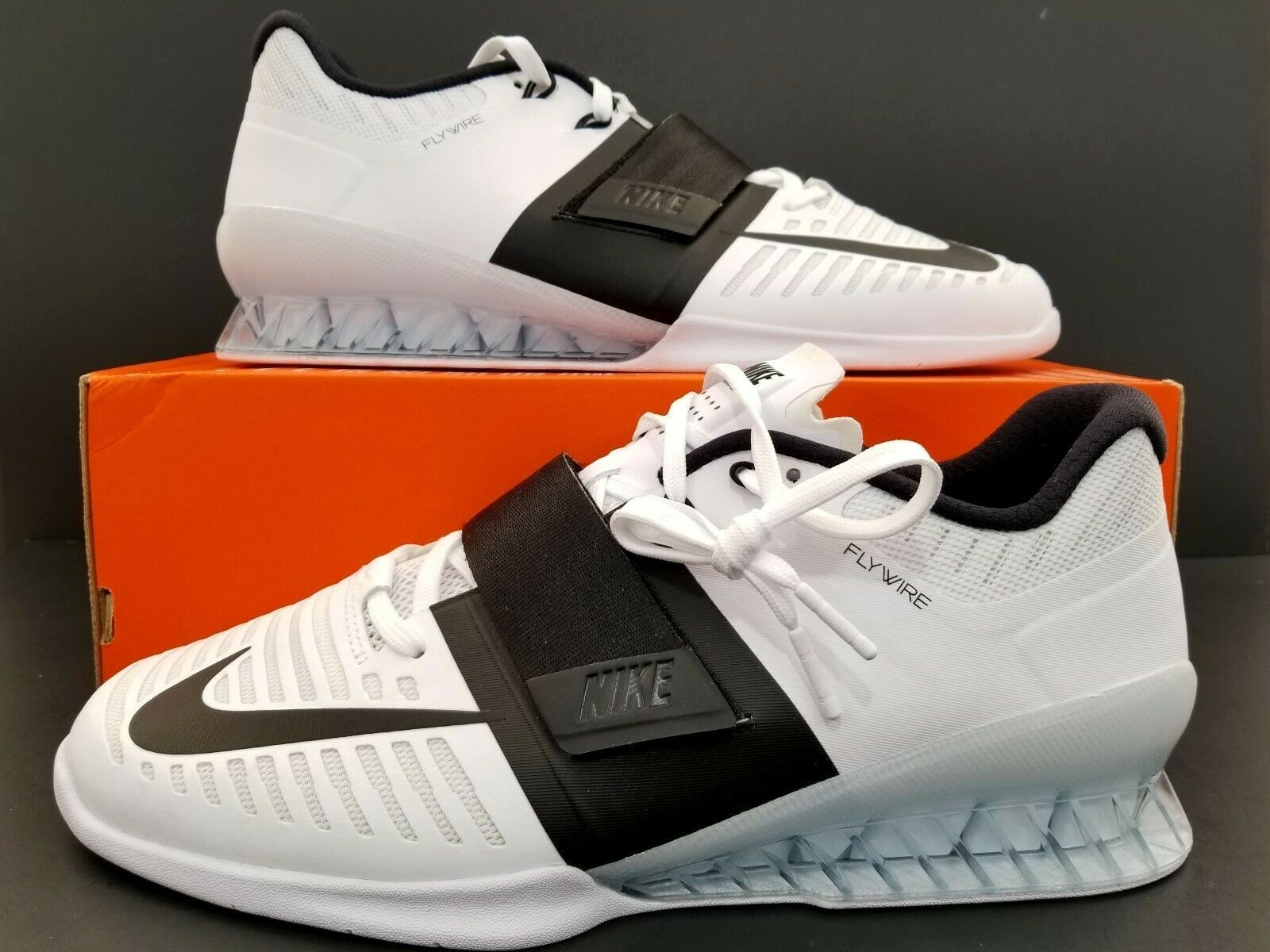 various colors edb0a 27dba Nike Romaleos 3 Weight Lifting Lifting Lifting shoes White Black 852933-101  Men s Size 12.5