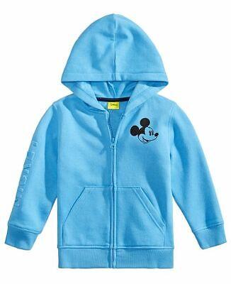 Disney Little Boys Mickey Mouse Plush Zip Hoodie Jacket 4T
