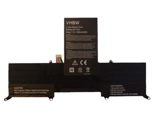 3200mAh per Acer Aspire Ultrabook S3-391-9813,S3-951-6432 BATTERIA VHBW