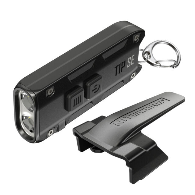 Nitecore TIP SE schwarz 700 Lumen Schlüsselbundlampe LED Akku Aluminiumgehäuse