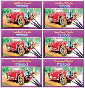 image is loading pack 6 cars amp transport colouring art doodle