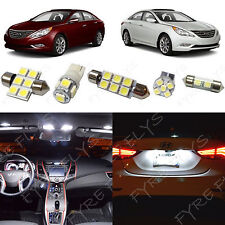 10x White LED lights interior package kit for 2011 & Up Hyundai Sonata YS4W
