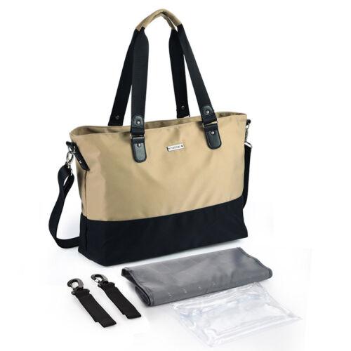 Fashion Baby Diaper Bag Mummy Outdoor Light Shoulder Bag Tote Buggy Stroller Bag