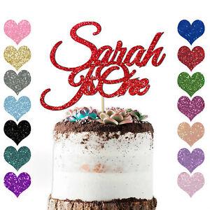 Peronalised-1st-Name-Cake-Topper-1-2-3-any-age-Birthday-Kids-Baby-Girls-Boys