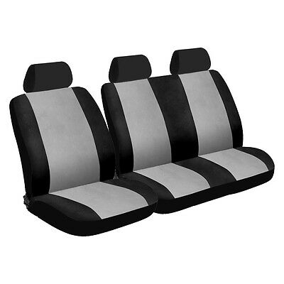 Universal, Grey and Black, Van Front Seat Covers: 1 + 2 Configuration (5 piece)