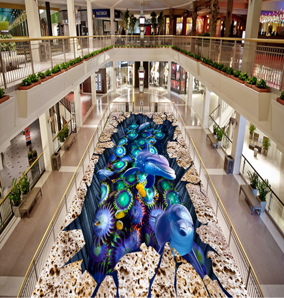 3D Delphine Blau Blau Blau 639 Fototapeten Wandbild Fototapete Tapete Familie DE Lemon c93ef5