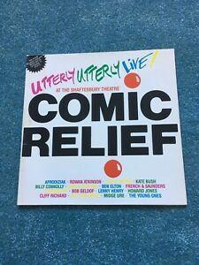Comic-Relief-Utterly-Utterly-Live-UK-vinyl-LP-album-record-WX51-1986-Exc