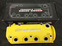 1996-2000 Honda Civic Yellow Mugen Style Valve Cover D16y8 D16y7