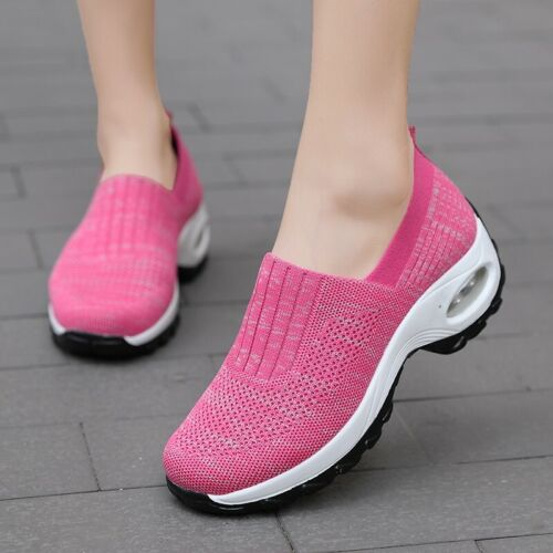 Details about  /New Women Comfort Casual Walking Round Toe Lightweight Slip On Loafer Sneakers B