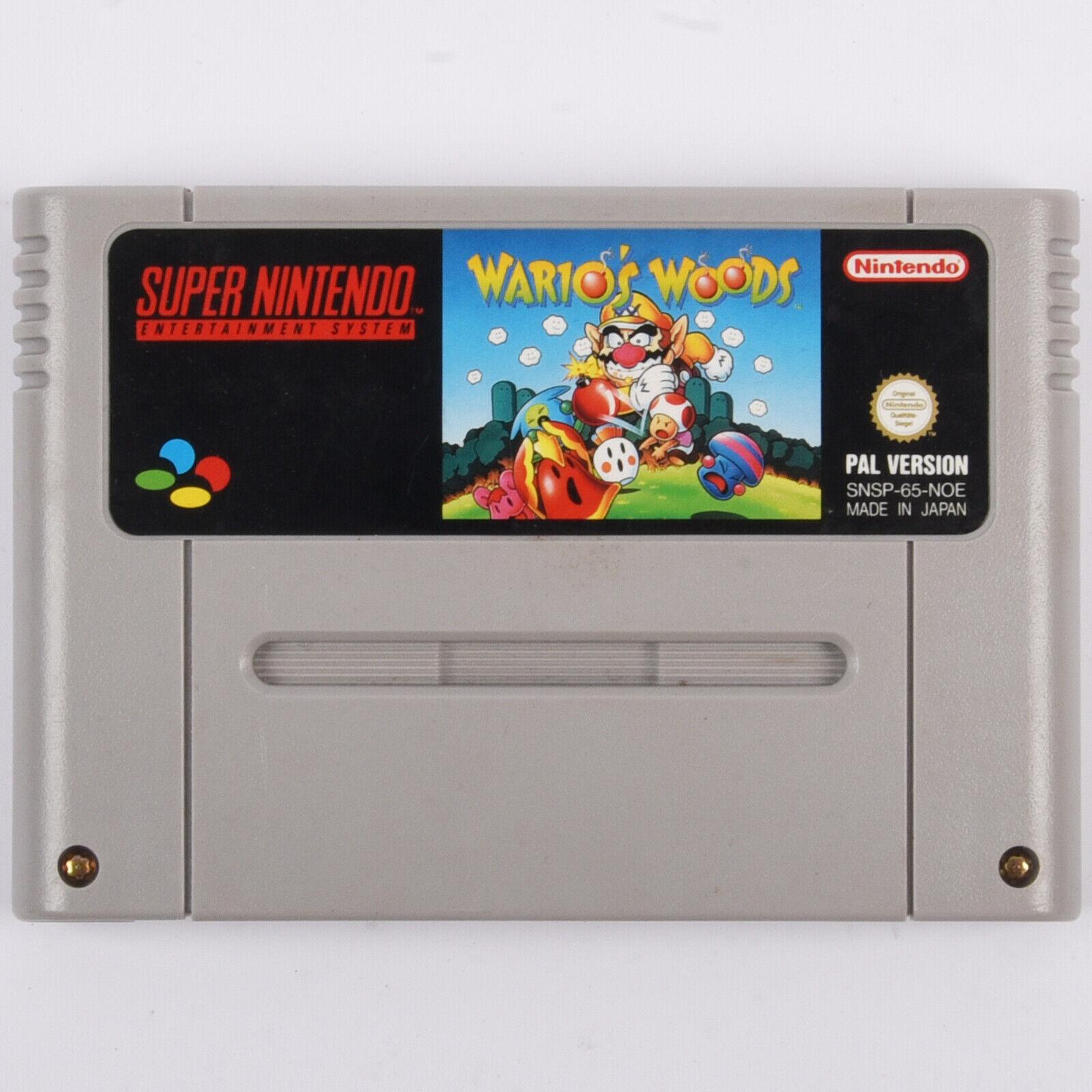 Snes - Wario's Woods Spiel Für Super Nintendo
