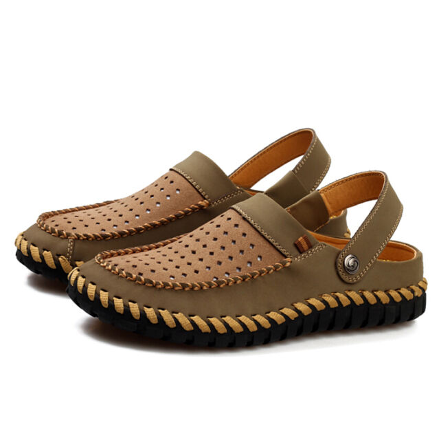 Summer Mens New Breathable Hollow Out Sandals Beach Slippers Shoes Loafers Size