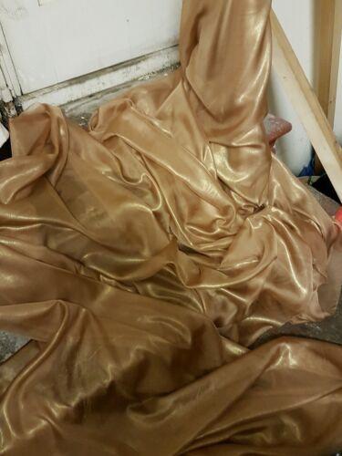 """3M   gold  Chiffon  gold  shimmer soft dress chiffon  58/"""" WIDE"""