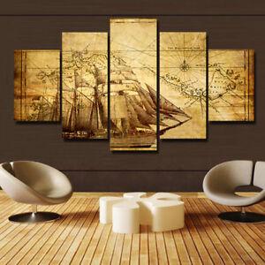 home decor nautical chart maps sailboats canvas prints
