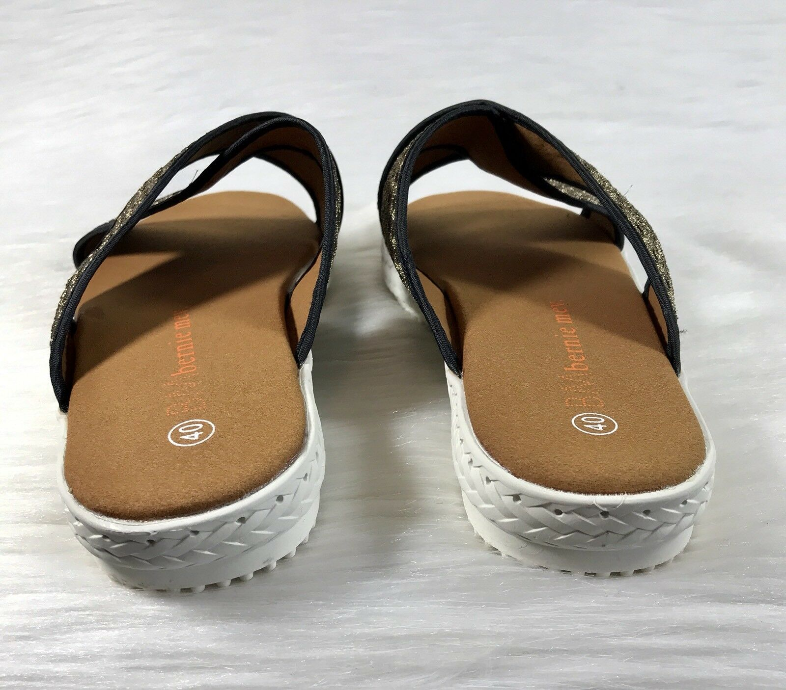 New Bernie Mev Mev Mev Avon Women's Sandals Slides Bronze Size 40 US 9.5-10 feb681
