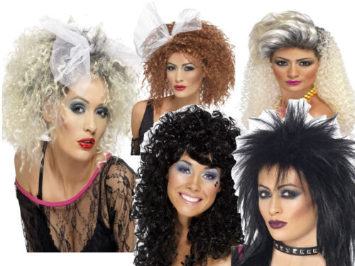 Adult Lets Get Physical Wig 80s Ladies Wild Child Celebrity Fancy Dress Wigs