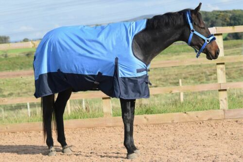 Outdoor Turnout Blue//Navy Full 50G 600 Denier Rug Mediumweight Horse 5/'3-6/'9 600