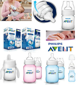 Baby-Newborn-Bottle-Teat-Vent-125ml-260ml-Cup-Trainer-Philips-Avent-Classic