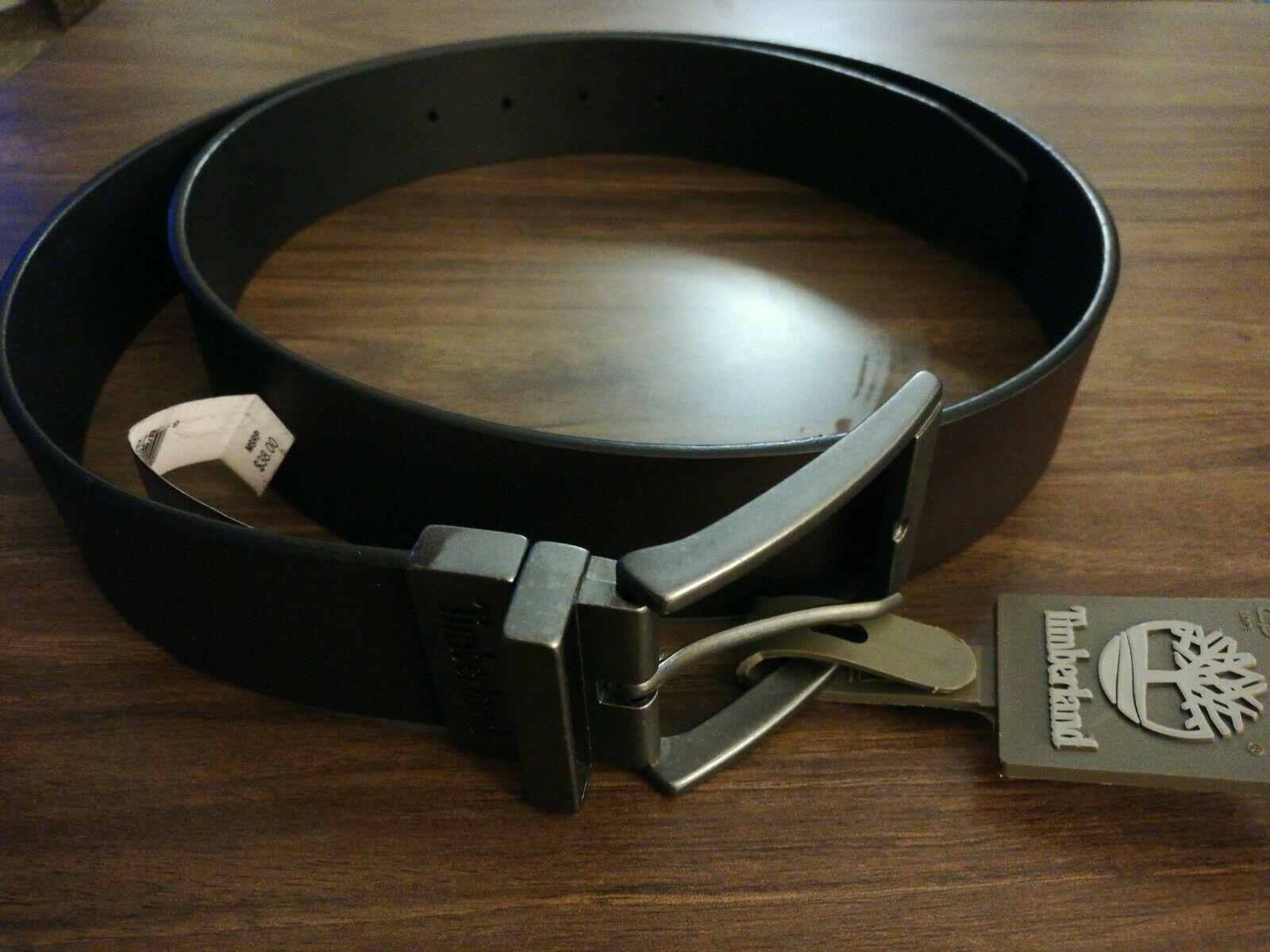 * nuevo Timberland Hombre Cuero Negro y Marrón Cinturón Reversible Talla 40 pulgadas