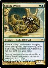 COILING ORACLE Dissension MTG Gold Creature — Snake Elf Druid Com