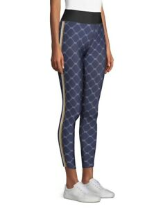 ULTRACOR NWT ULTRA HIGH SAILOR PRINT LUX METALLIC STRIPE TIGHTS PANTS SIZE SMALL