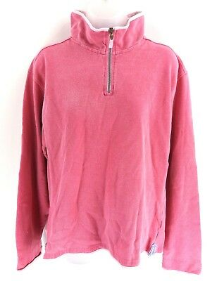 Crew Clothing Da Donna Maglione Pullover 14 Rosa Cotone 1/4 Zip- Processi Di Tintura Meticolosi